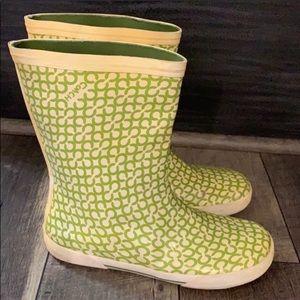 Authentic Coach Signature rubber rain boots sz 9